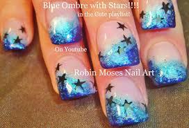 easy nail art glitter easy ombre short nail art design glitter and stars nails tutorial