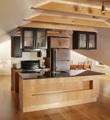 adorable brown red colors wooden high end kitchen island features