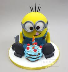 minions birthday cake minion with birthday cake torty cake and crochet