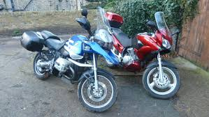 honda varadero nothing like riding with your father his bmw r1150gs and my honda