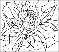 rose printable color number hard color numbers