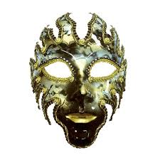 venetian mask full black and gold venetian fire god full face