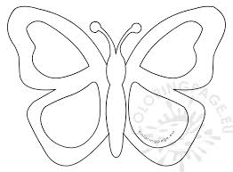 simple butterfly stained glass template coloring page