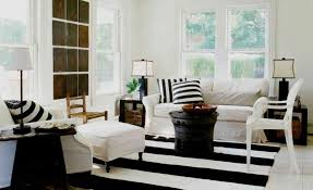 Black White Area Rug To Enhance A Décor With A Black And White Striped Rug
