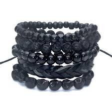 black bead skull bracelet images Best men 39 s beaded skull bracelet products on wanelo jpg
