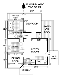 Willow Floor Plan by Willow Run Apartments
