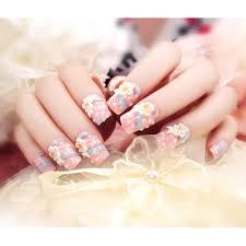 24pcs fashion manicure fake false acrylic toenail toe finger full
