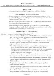 Summary Of Resume Example by Resume Manager Pupil Transportation Training Susan Ireland Resumes