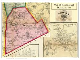 Framingham State Campus Map by 1858 Foxborough Foxborough From The Map Of Norfolk County By