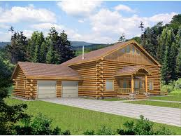 Two Story Log Homes | riverway rustic log home plan 088d 0042 house plans and more