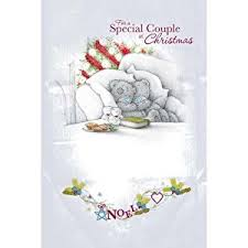 me to you tatty teddy christmas card for a special couple at