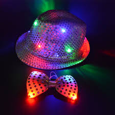 2018 led sequins jazz hat light up trilby