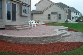 Cost Paver Patio Patio Seating Ideas Brick Paver Patio Custom Firepit Retaining