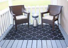 Painting An Outdoor Rug Stenciled Patio Rug Img 5360 Outdoor Garden Pinterest Lounge