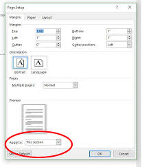 page layout different sized headers in ms word letterhead