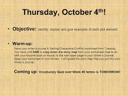 thursday october 4 th objective identify explain and give
