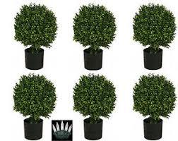 6 artificial 20 outdoor boxwood uv topiary tree bush