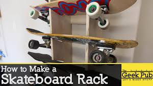 Skateboard Shelf How To Make A Skateboard Rack Youtube