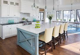 painted islands for kitchens blue painted kitchen island dayri me