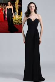 two piece black sheath strapless slit maxi prom dress queen