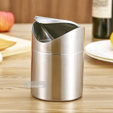 kitchen stainless steel garbage can under sink waste bin trash