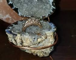 geode engagement ring box geode engagement ring box etsy