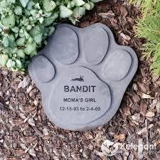 cat memorial concrete paw print large kelegant pet memorials