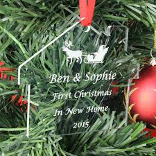 personalised first christmas in new home bauble u2013 nicely personalised