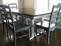 two tone dining table set dining room sets telisa s furniture and cabinet refinishing provo