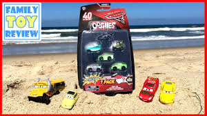 cars 3 toys ooshies at the beach summer fun opening disney cars 3