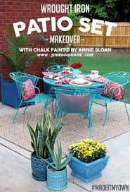 Patio Furniture Green by How To Paint Patio Furniture With Chalk Paint Iron Patio