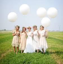 large white balloons handmade canadian farm wedding melanie brian green wedding