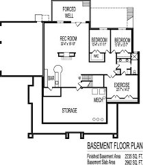 Basement Layout Plans Single Story House Plans With Basement Basements Ideas