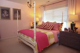Simple Teenage Bedroom Ideas Simple Girls Bedroom Design With White Satin Grommet Top F Curtain