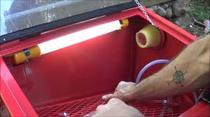 blast cabinet light kit tractor supply job smart sand blasting cabinet unboxing assembly and