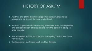 Ask Fm The History Of Ask Fm