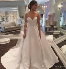 plain wedding dresses discount 2018 new plain designed wedding dress a line sweetheart