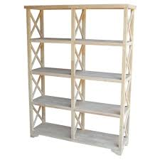 odessa white open bookcase by home depot havenly
