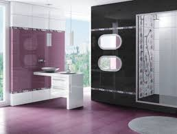 bathroom modern bathroom interior feature purple black white