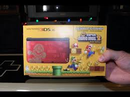 nintendo 3ds xl black friday new super mario bros 2 limited edition 3ds xl unboxing youtube