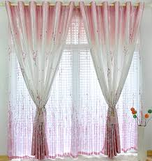 curtains design decorations tasty fancy apricot bud with pink color gardation
