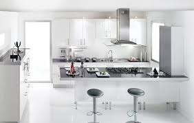 cuisine blanche brillante cuisine sealise blanc brillant