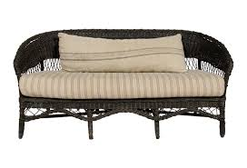 Rattan Settee 1920s European Wicker Sofa Omero Home