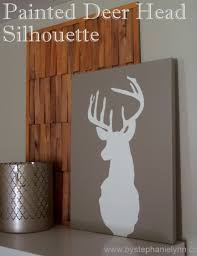 Deer Wall Decor Diy Deer Head Silhouette Wall Art Decor How To Repurpose An Old