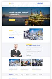 Industrial Theme Offshore Industrial Business Responsive Wordpress Theme 64988