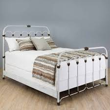 Antique White Metal Bed Frame Iron Beds Wrought Iron Beds Humble Abode