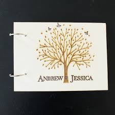 personalized wedding guest books aliexpress buy wooden wedding guest book custom names photo