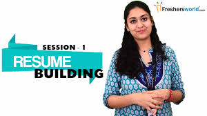 Sample Resume Templates For Freshers by Resume Building For Freshers Part 1 Sample Resume Format