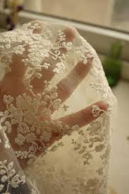 ivory bridal lace fabric retro embroidered lace chic by retrolace