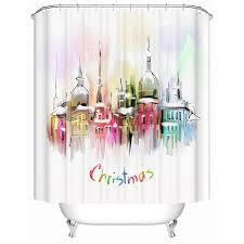 Environmentally Friendly Shower Curtain Shower Curtain Bathroom Curtain Landscape